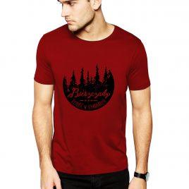 Koszulka BIESZCZADY LAS L czerwona